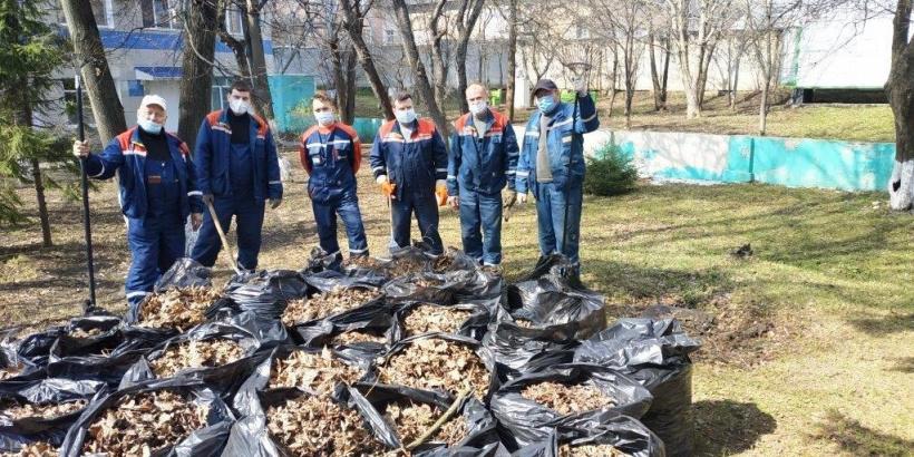 Коломенские энергетики приняли участие в традиционном весеннем субботнике