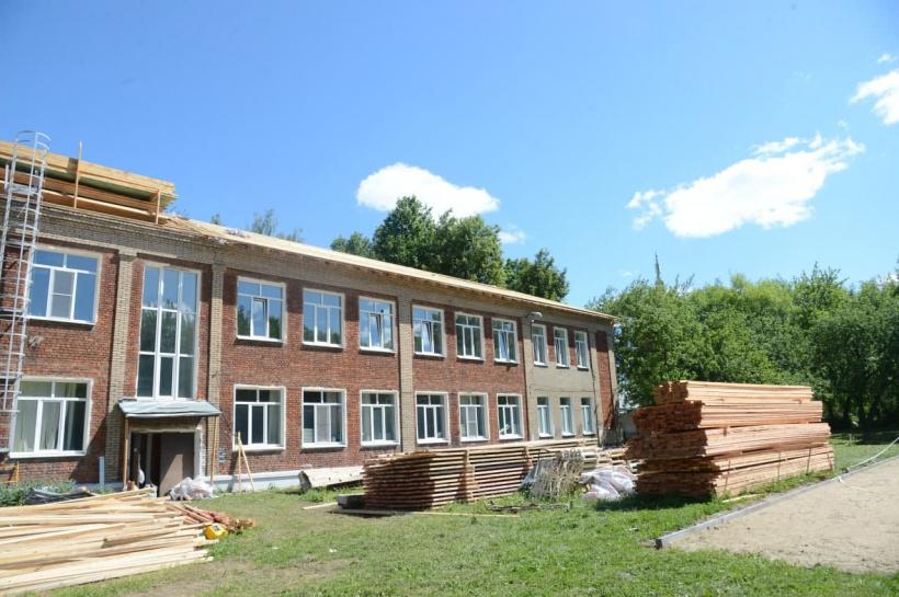 В одной из старейших школ Коломны продолжается капитальный ремонт